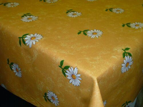 Tischdecke Tischtuch Flair 140 X 240 cm in safrangelb mit Blumen 100 /% Baumwole