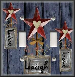 Image Is Loading Metal Light Switch Plate Cover Country Decor Live
