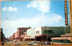 1950s-Chrome-Postcard-Washington-Street-Phoenix-Arizona-AZ