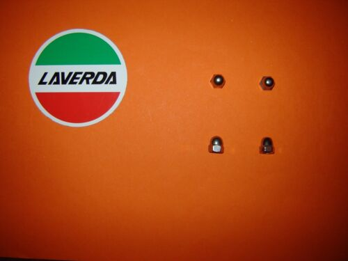 Laverda Triple Jota 3CL Jarama  Mirage 1200T Stainless SS Clock Cover Domed Nuts