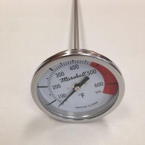 Asphalt-Kettle-Thermometer-50-650F-3-034-Dial-18-034-Stem-1-2-034-NPT-Back-Connect