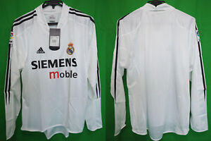 05e4cb271 2004-2005 Real Madrid Jersey Shirt Camiseta Home Adidas Siemens ...