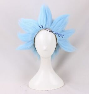 Rick-And-Morty-Short-Cosplay-Halloween-Costume-Light-Blue-Wig-Styled-a-wig-cap
