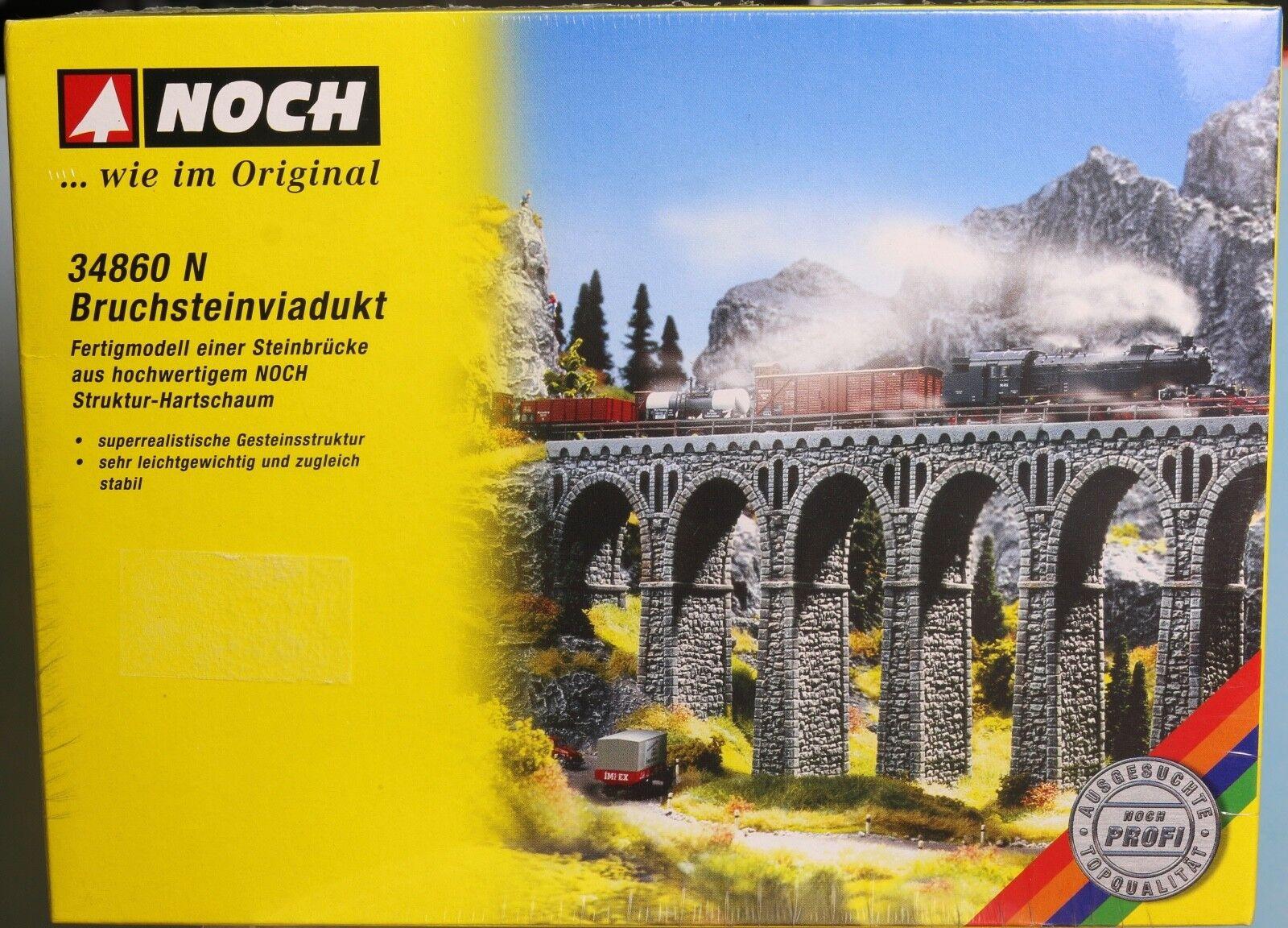 Noch 34860, Spur N,  Bruchsteinviadukt (Fertigmodell aus Struktur-Hartschaum)