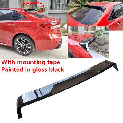 4DR Matte Black PP Polypropylene Rear Spoiler Wing IKON MOTORSPRTS Roof Spoiler Compatible With 2020 Toyota Corolla Sedan