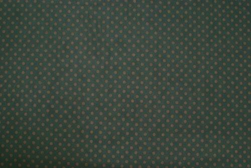 Fodera verde scurissimo a pois marroni TESSUTO AL METRO STOFFA AL METRAGGIO