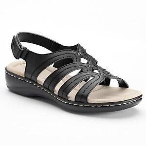 7f964596e36b Kohls Croft Barrow Women Black Comfort Sandals Shoes Size 11 NEW ...