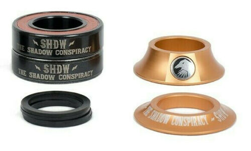 SHADOW CONSPIRACY STACKED MID BB KIT 19mm BMX BIKE BOTTOM BRACKET PROFILE COPPER