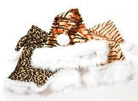 Santa Hats Animal Print 3x Pack - Lion Tiger Cheetah Christmas Holiday Caps
