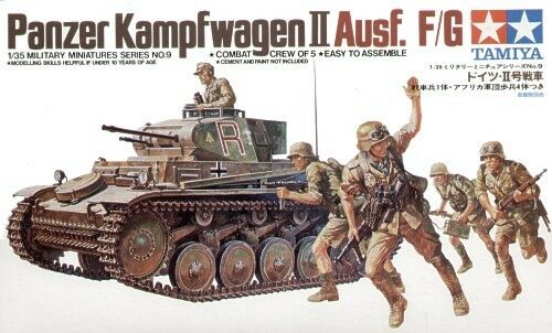 Tamiya 1//35 Panzerkampfwagen II with crew of 5 # 35009