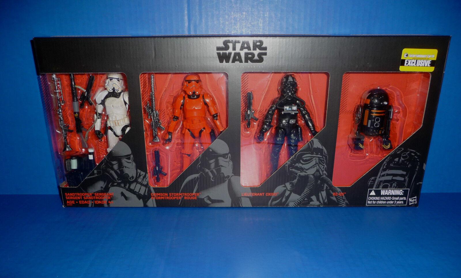 Guerra DE LAS GALAXIAS la serie negra fuerzas Imperial 6 Figuras EE Exclusivo-Soldados de asalto