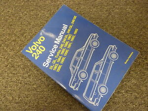 1986 1987 1988 volvo 240 dl gl se turbo sedan wagon shop service rh ebay com Custom 1987 Volvo 240 DL 1987 Volvo 240 DL Motor