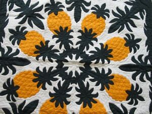 Hawaiian quilt wall hanging baby blanket hand quilted