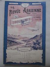 REVUE AERIENNE 1909 19 ECOLE AERONAUTIQUE HELICE AERIENNE BLERIOT ANZANI SANGATT