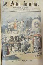 FETE LE BOEUF GRAS A PARIS LE CORTEGE  GRAVURE PETIT JOURNAL 1896