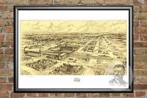 Vintage-South-Milwaukee-WI-Map-1906-Historic-Wisconsin-Art-Old-Victorian