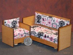 cool 12 scale dollhouse living room set | Dollhouse Miniature Sofa Chair Living Room Set 1:12 scale ...