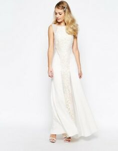 ab820531d7a Jarlo Beatrix Lace Panel Maxi Dress With Low Back £120 UK 14 EU 42 ...