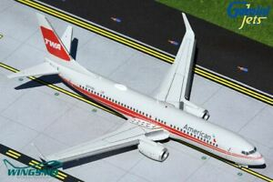 GeminiJets American Airlines TWA Heritage Boeing 737-800W flaps down version G2A
