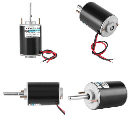 12//24V 30W Permanent Magnet DC Electric Motor High Speed CW//CCW DIY Generator HF