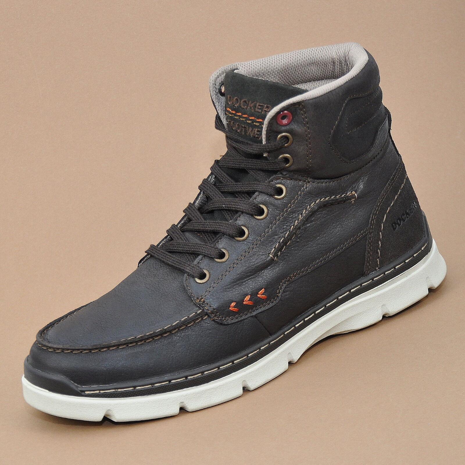 Dockers señores botas de cuero, zapatos botas botas zapatos marrón oscuro (chocolate) 352610-239010 daf12b
