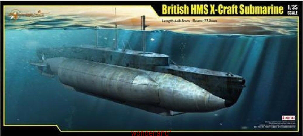 Merit 63504 1 35 British X-Craft Submarine