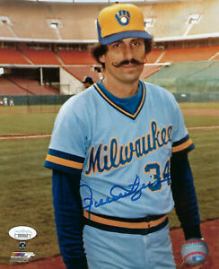 1982-BREWERS-Rollie-Fingers-signed-8x10-photo-JSA-COA-AUTO-Autographed-HOFer
