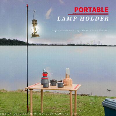 Outdoor Portable Folding Aluminum Alloy Lamp Bracket Camping Light Hanging