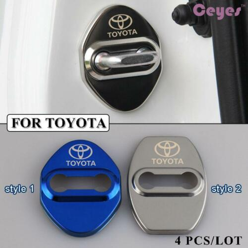 Longzhimei Car Door Lock Cover for Toyota Noah Prius Harrier Alphard etc Door Lock latches Striker Cover Protective Plastic 4Pcs
