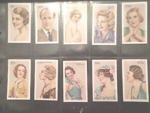 1935-Gallaher-Cinema-amp-Stage-Movie-Stars-set-48-cards-Tobacco-Cigarette-lot