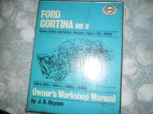 Haynes Manuel Ford Cortina Mk11 1970 Vintage 1600e Original-afficher Le Titre D'origine ProcéDéS De Teinture Minutieux
