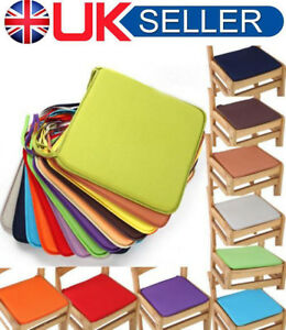Image Is Loading UK Removable Seat Pad Tie On Dining Room