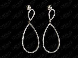 925-Sterling-Silver-Cubic-Zirconia-Double-Teardrop-Pear-Shape-Earrings-Tear-Drop