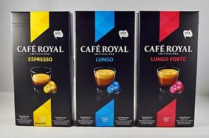 cafe royal 10 capsules for nespresso system coffee. Black Bedroom Furniture Sets. Home Design Ideas