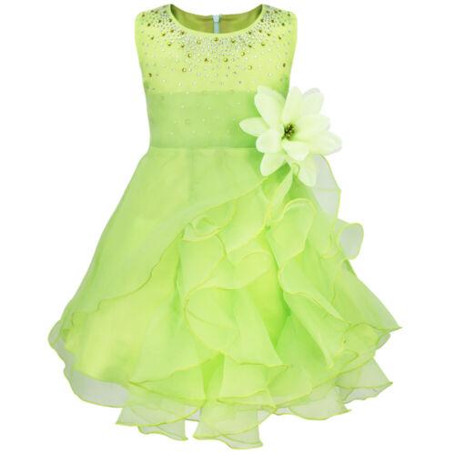 US Girls Princess Dress Baby Toddler Party Wedding Birthday Formal Tutu Dress