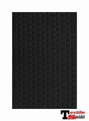 """SPECIAL LISTING  BLACK PERFORATED MARINE OUTDOOR AUTO BOAT UPHOLSTERY 54""""W VINYL"""