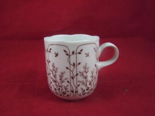 Untertasse braun Kaffeetasse u neuwertiger Zustand gebr Tirschenreuth Fleur