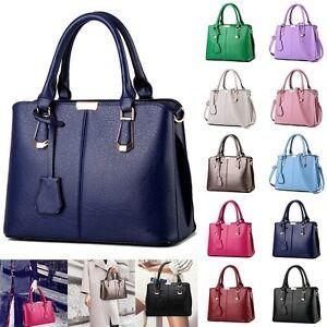 Image is loading UK-Women-Leather-Handbag-Shoulder-Cross-Body-Bag- 4eea3744a