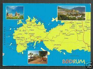 Map postcard Bodrum Mugla Turkey Trkiye stamp eBay