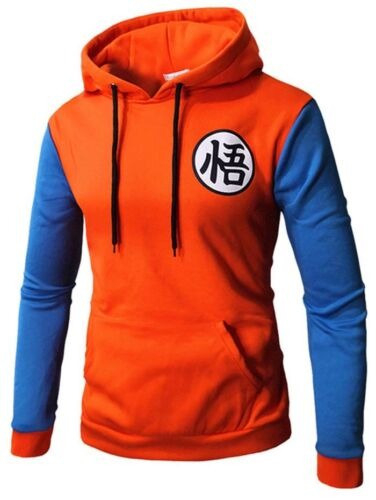 Anime Dragon Ball Z Son Goku Thicken Mens Jacket Sweatshirt Cotton Hoodie Coat