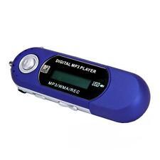 iRULU 8GB LCD USB 2.0 WMA MP3 Player with FM Radio Voice Recorder Blue