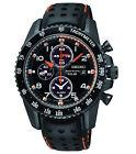 New Seiko SSC273 Sportura Solar Chronograph Black IP Leather Strap Men's Watch