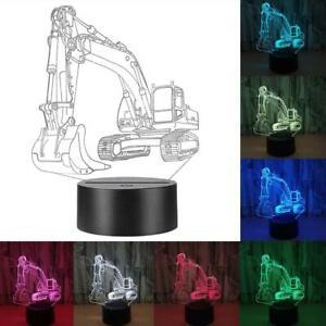 3D-Illusion-Bagger-LED-Nachtlicht-Farbwechsel-Tisch-Schreibtisch-USB-Lampe
