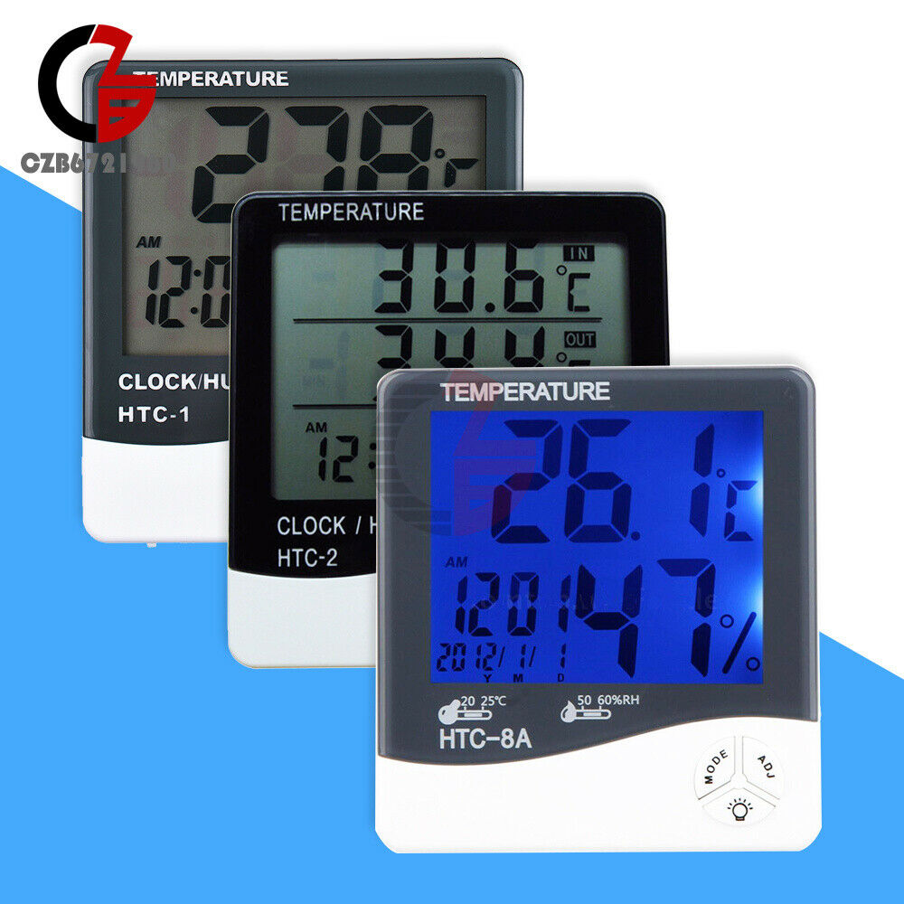 HTC-1 HTC-2 HTC-8A Indoor LCD Thermometer Hygrometer Temperature Humidity Meter