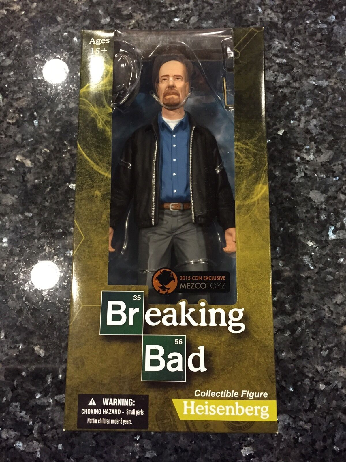 SDCC 2015 BREAKING BAD MEZCO TOYZ HEISENBERG WALTER WHITE 12 INCH ACTION FIGURE