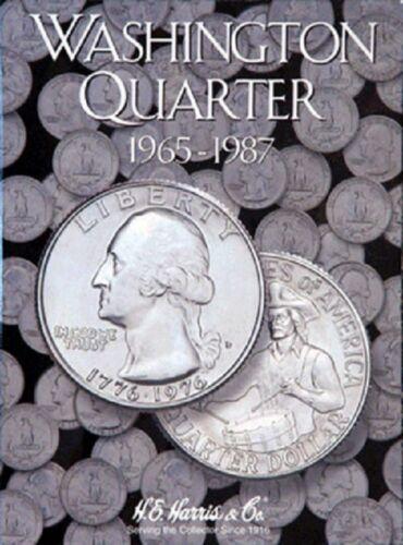 4 Harris Coin Folders Set Collection For Washington Quarters Nos.1-4 1932-1998