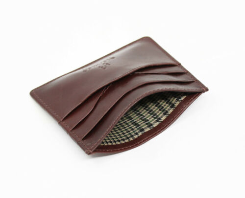 Starhide Mens Thin Slim Minimalist Leather Credit Card Holder Case 1215-Brown