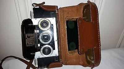 Vintage c1950 Stereo Realist 3D Rangefinder Camera + Original Leather Case