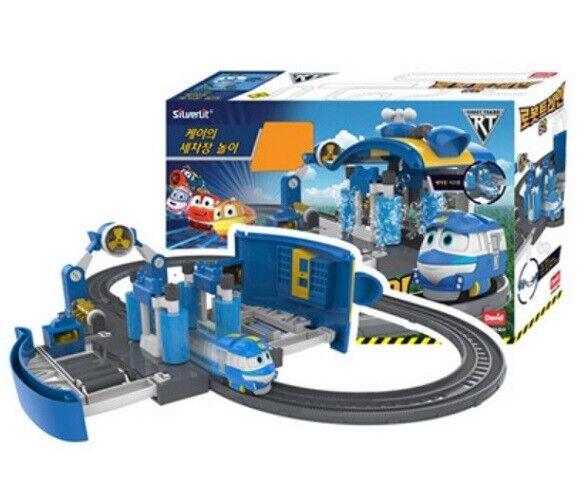 Robot Train KAY Season2 Car Wash Play Set Track Rail TV Character Toys_MU
