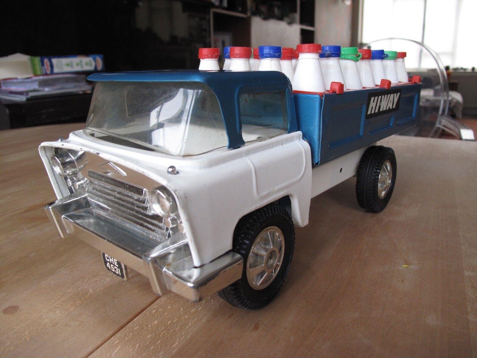 Tri-ang Vintage Hi-Way Milk Truck Unrestored Original. It's Christmas